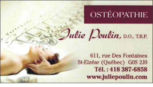 Clinique d'ostéopathie Julie Poulin