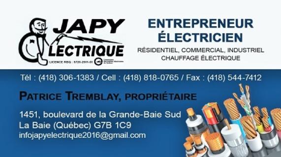 Japy Electrique 2016 Inc