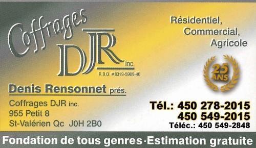 Coffrages DJR inc.