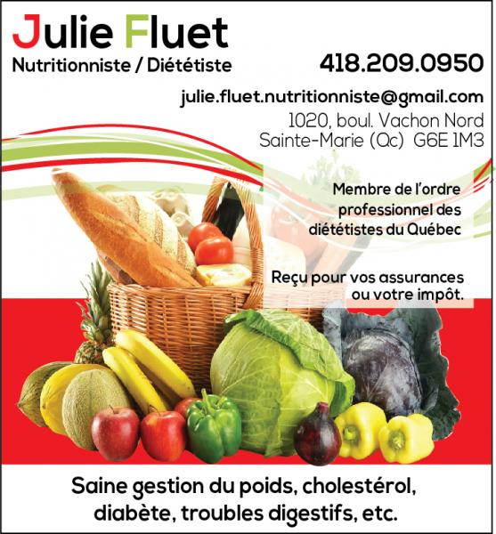 Julie Fluet, Nutritionniste