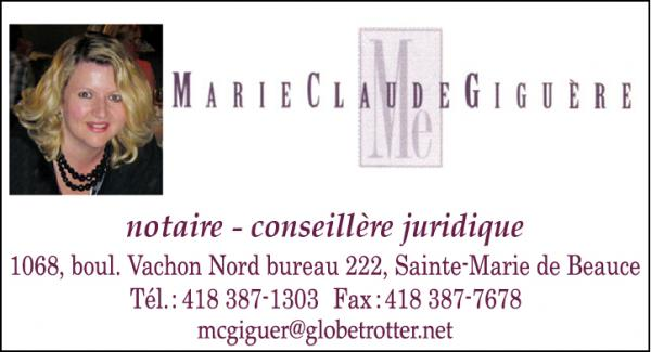 Marie-Claude Giguère, Notaire