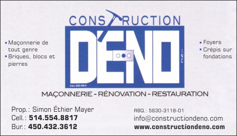 Construction De-No inc.