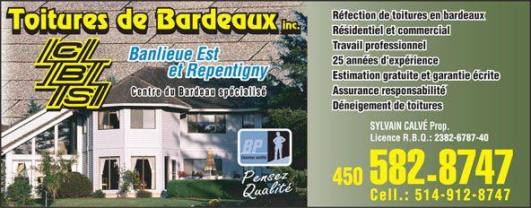 Les Toitures De Bardeaux C.B.S. Inc.