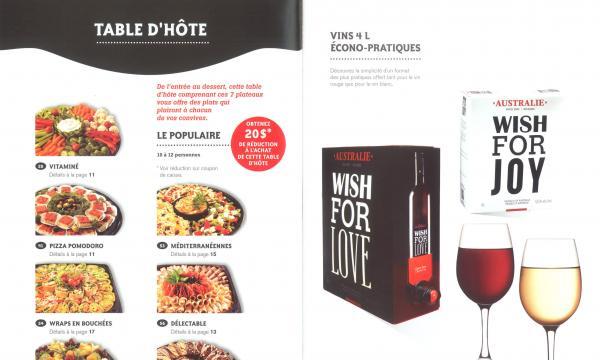 Table d'hôte, vin et spiritueux