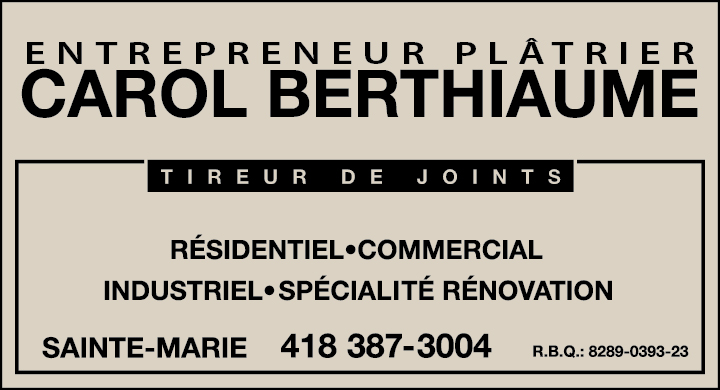 Carol Berthiaume Plâtrier